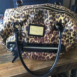 Betsy Johnson Betseyville Leopard Weekender Bag